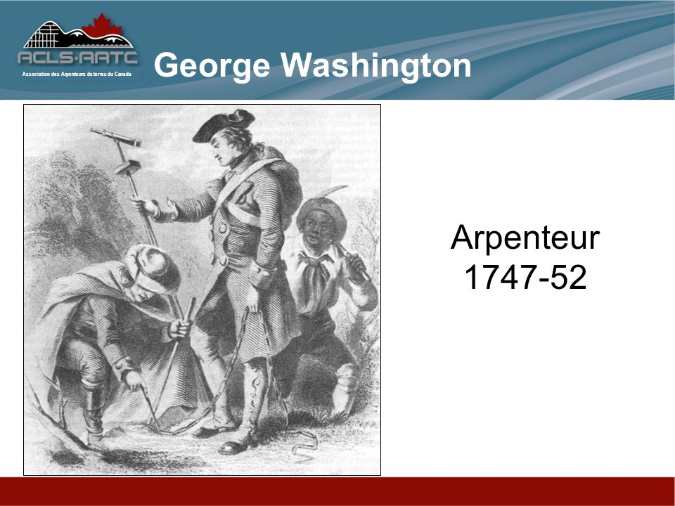 George Washington Arpenteur 1747-52