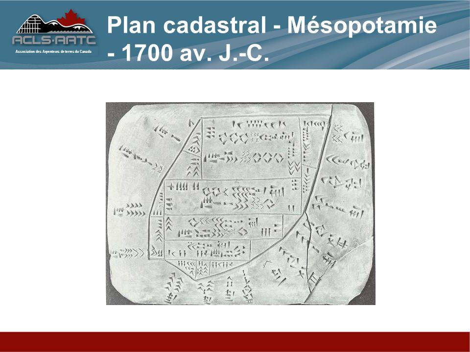 Plan cadastral - Mésopotamie - 1700 av. J.-C.