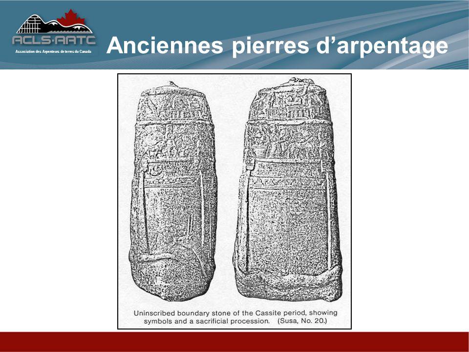 Anciennes pierres d'arpentage