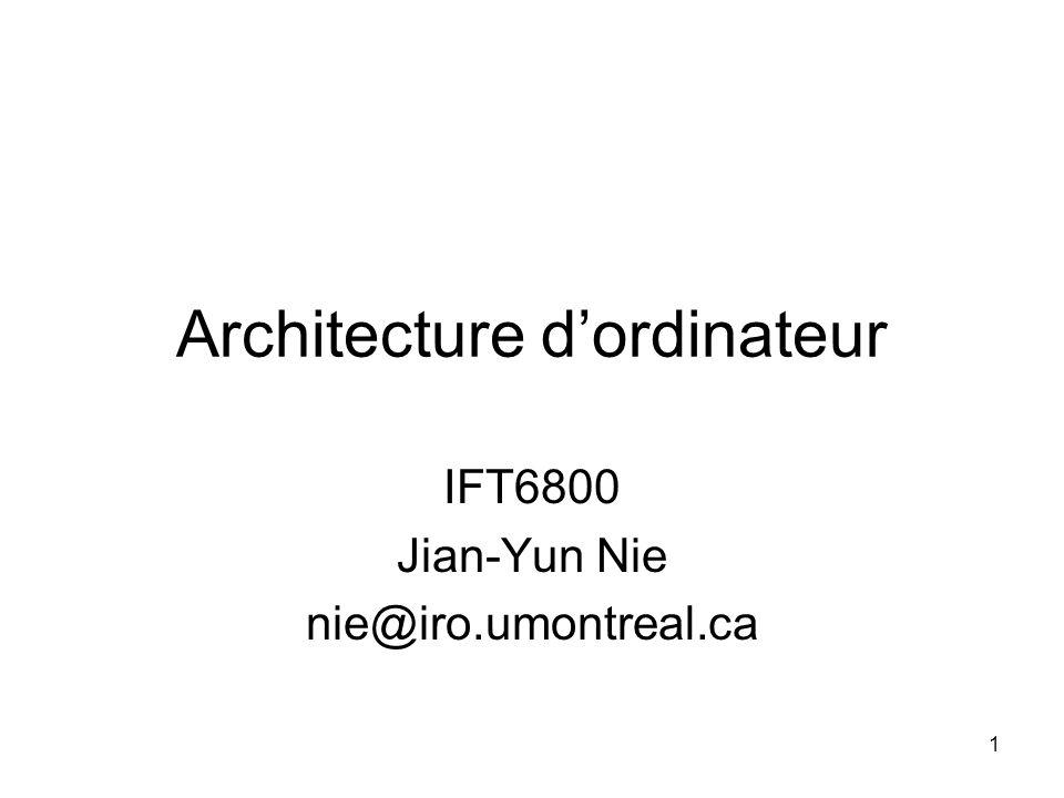 Architecture d'ordinateur