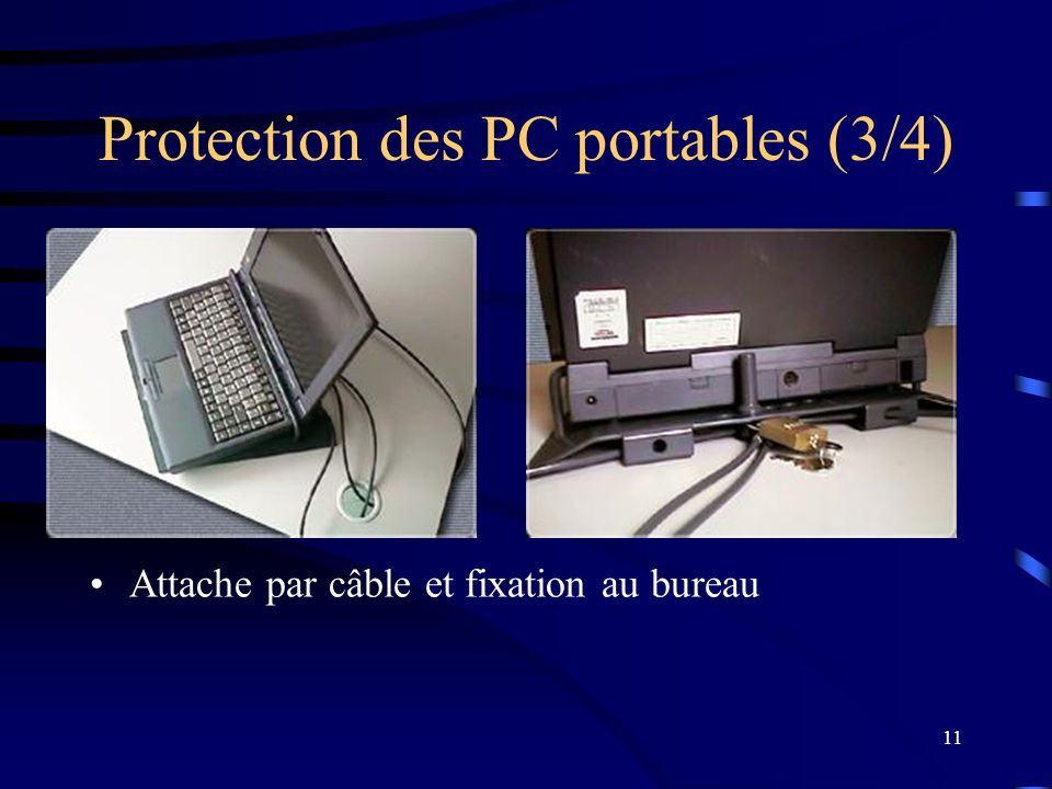 Protection des PC portables (3/4)