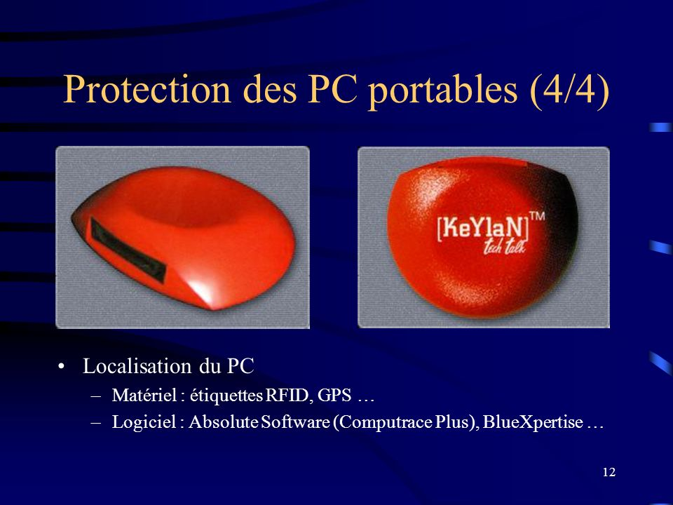 Protection des PC portables (4/4)