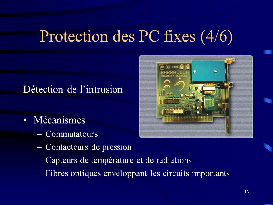 Protection des PC fixes (4/6)