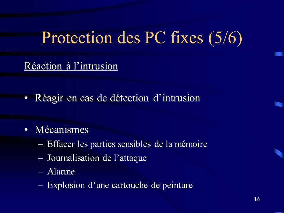Protection des PC fixes (5/6)
