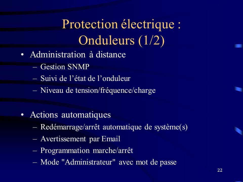 Protection électrique : Onduleurs (1/2)