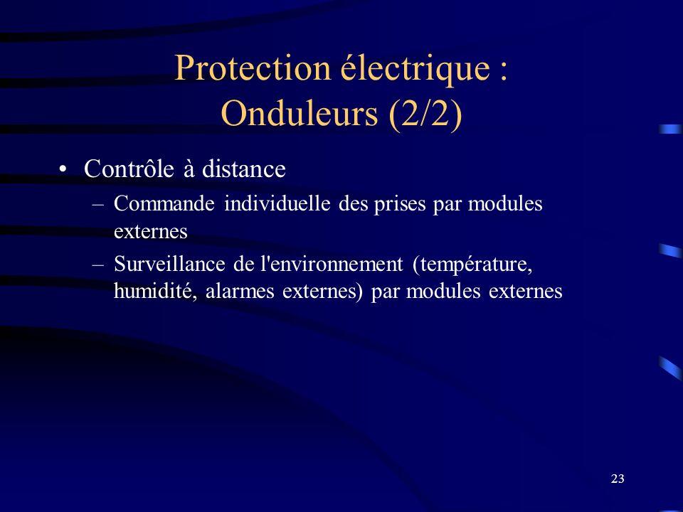Protection électrique : Onduleurs (2/2)