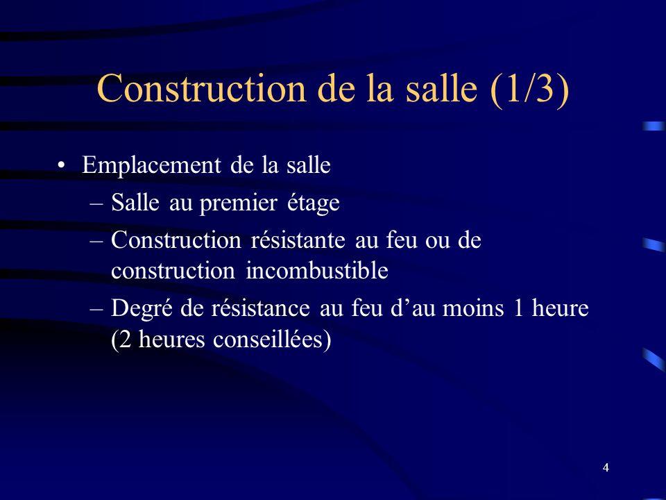 Construction de la salle (1/3)