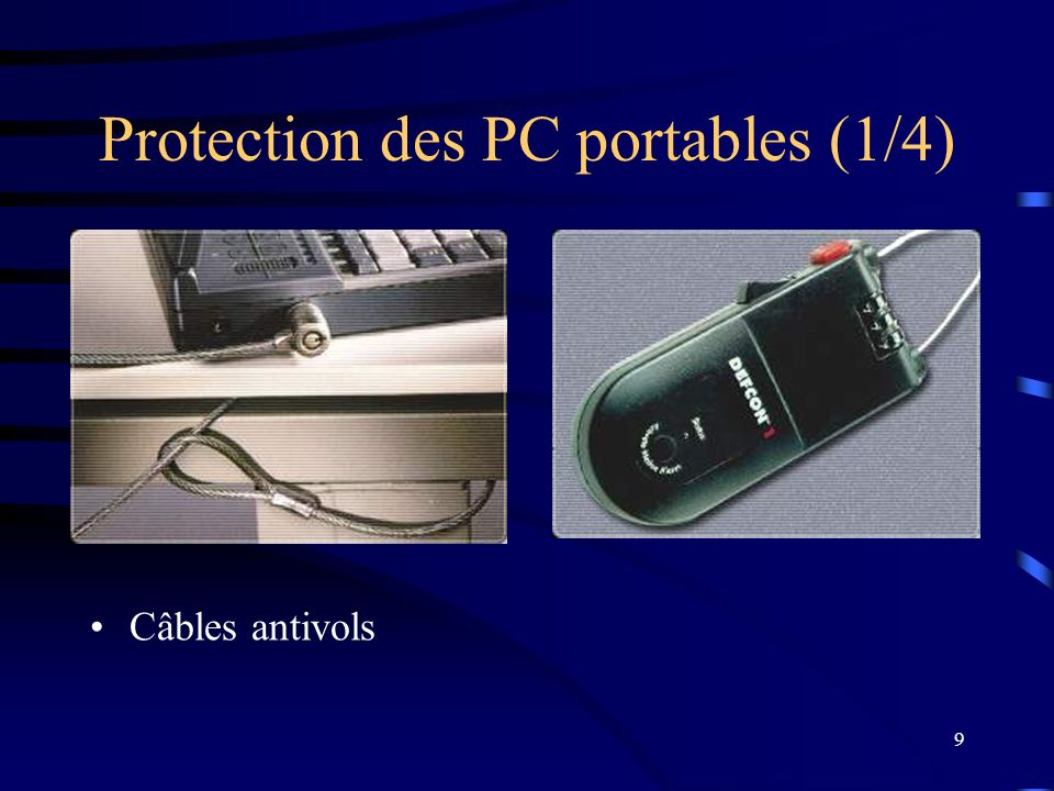 Protection des PC portables (1/4)
