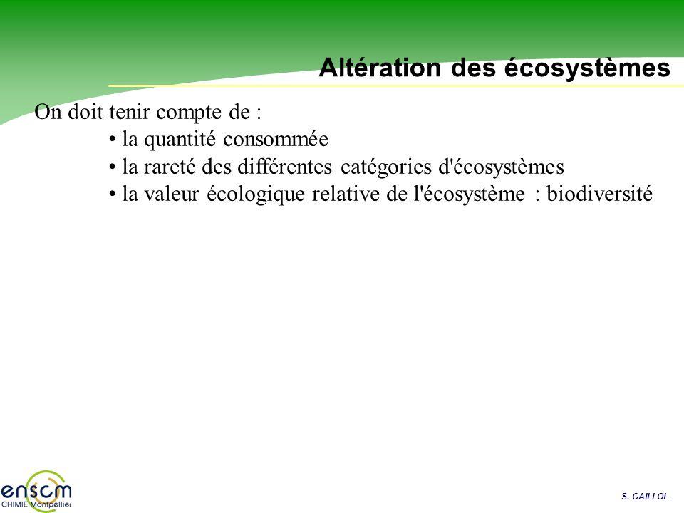 Altération des écosystèmes