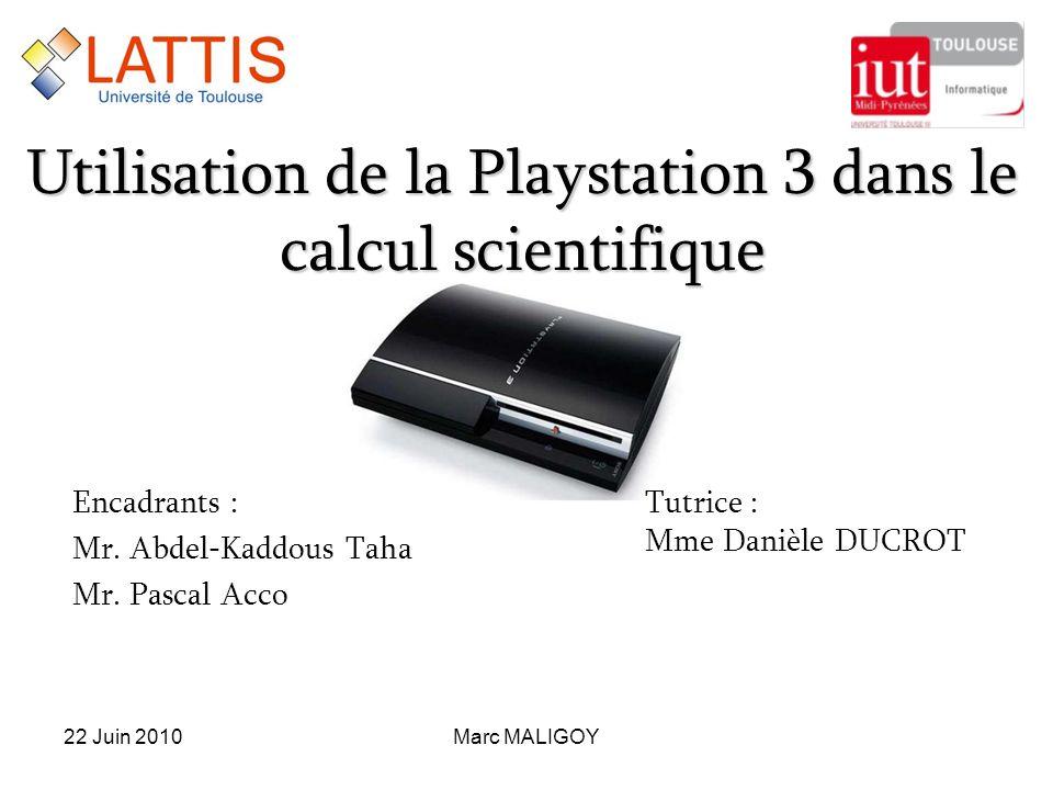 Utilisation de la Playstation 3 dans le calcul scientifique