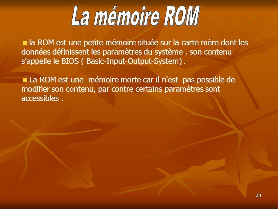 La mémoire ROM