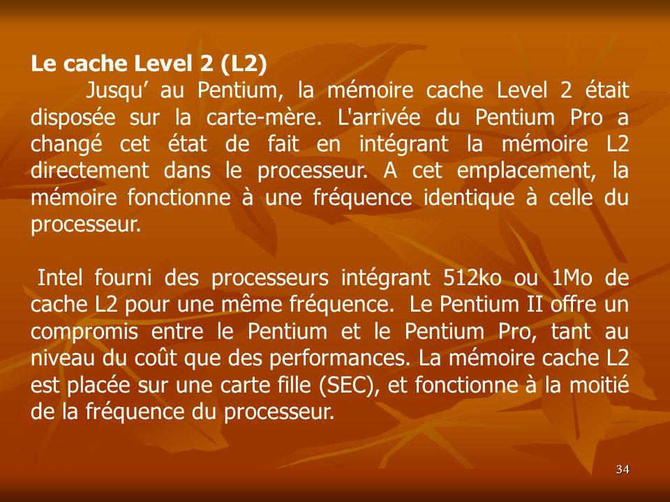 Le cache Level 2 (L2)