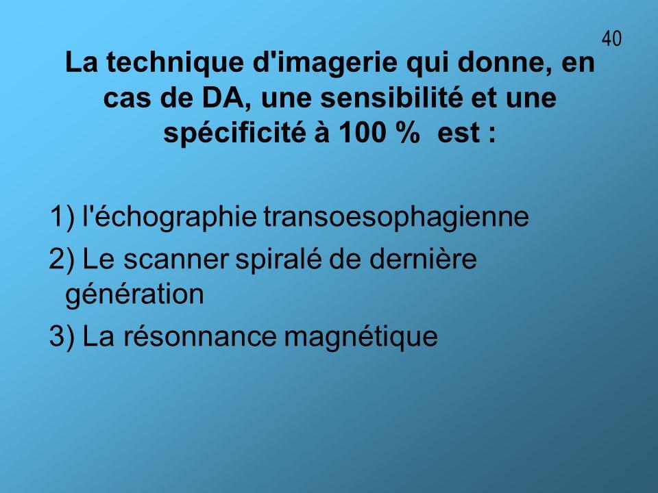 1) l échographie transoesophagienne