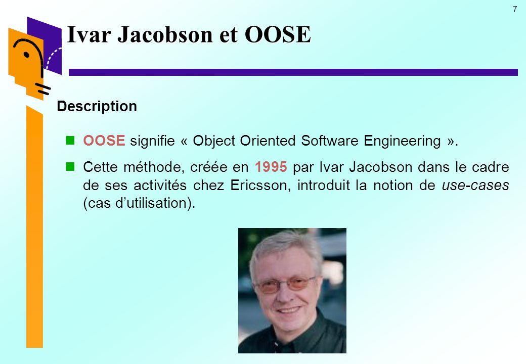 Ivar Jacobson et OOSE Description