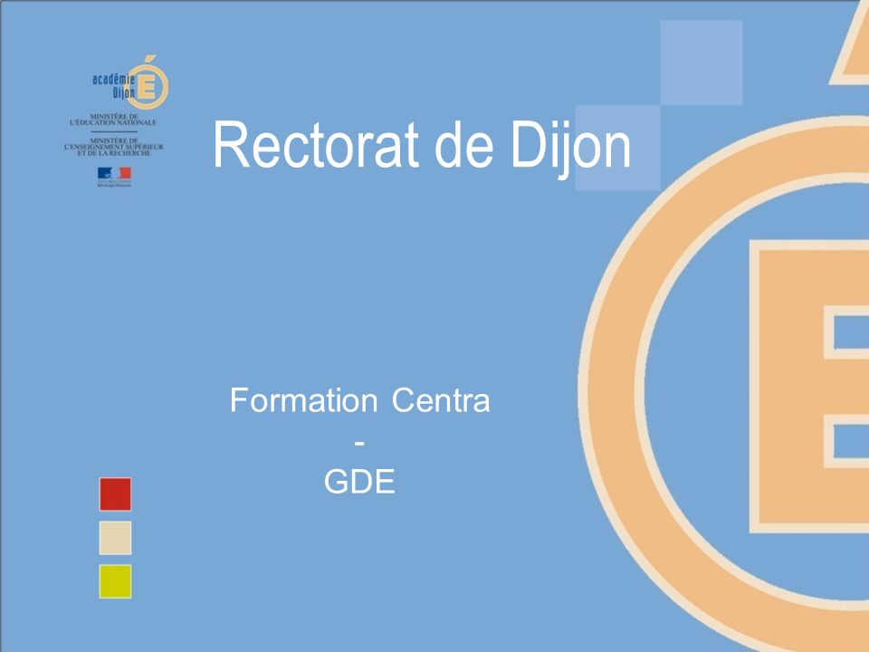 Formation Centra - GDE