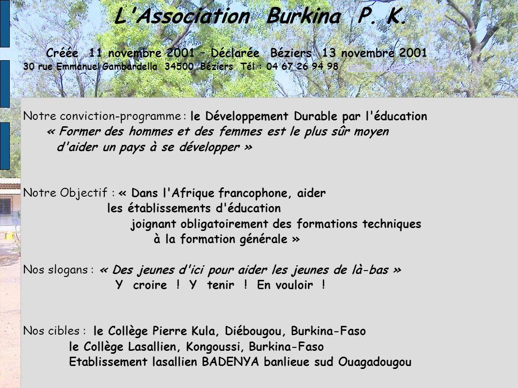 L Association Burkina P. K.