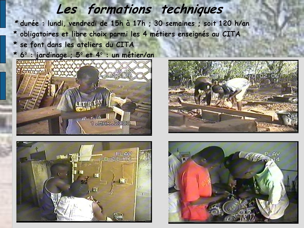 Les formations techniques