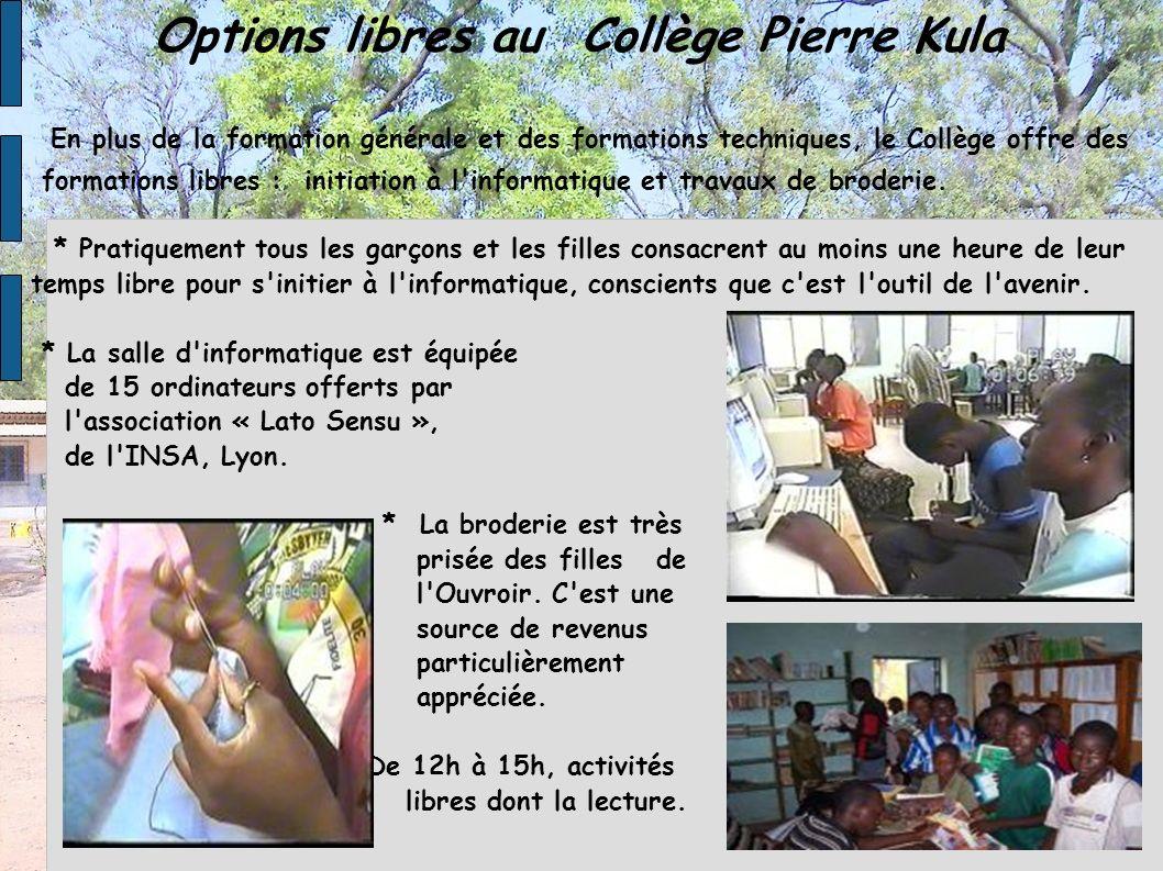 Options libres au Collège Pierre Kula
