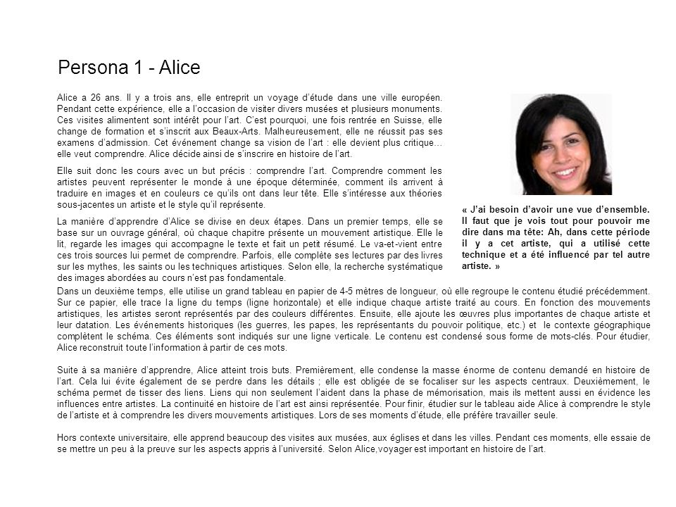 Persona 1 - Alice