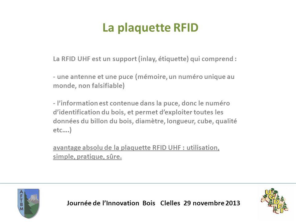 La plaquette RFID La RFID UHF est un support (inlay, étiquette) qui comprend :