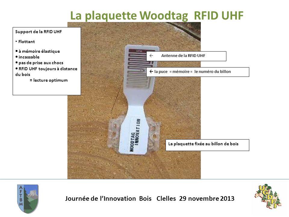 La plaquette Woodtag RFID UHF