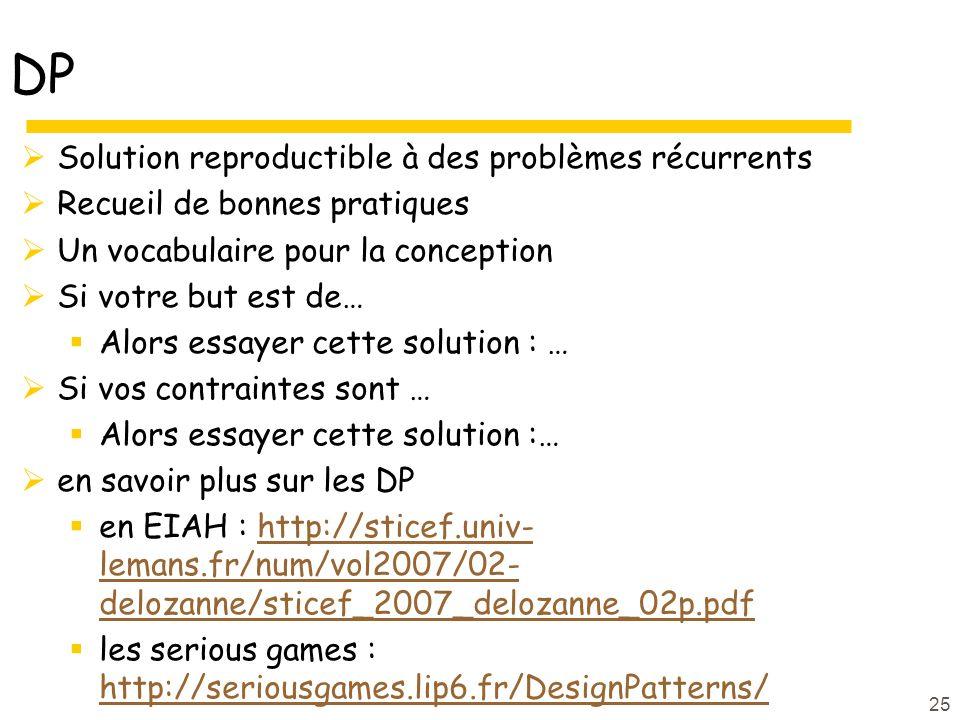DP Solution reproductible à des problèmes récurrents