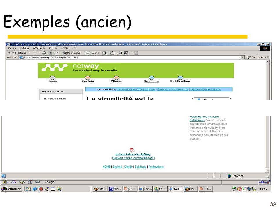Exemples (ancien)