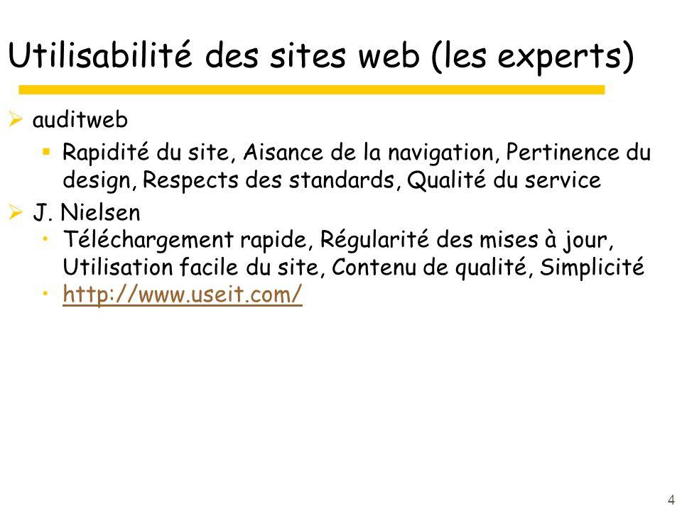 Utilisabilité des sites web (les experts)