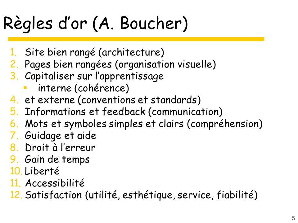 Règles d'or (A. Boucher)