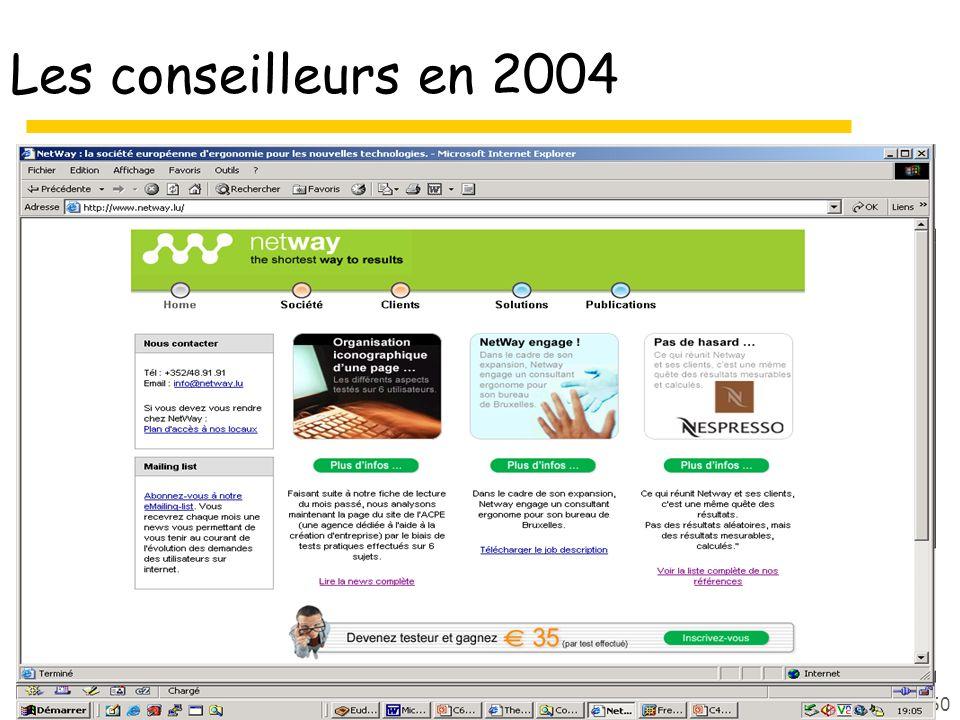 Les conseilleurs en 2004