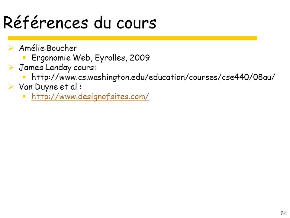 Références du cours Amélie Boucher Ergonomie Web, Eyrolles, 2009