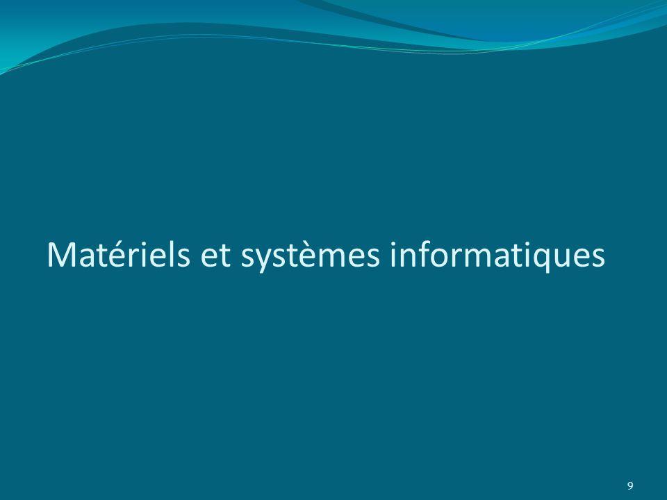 Matériels et systèmes informatiques