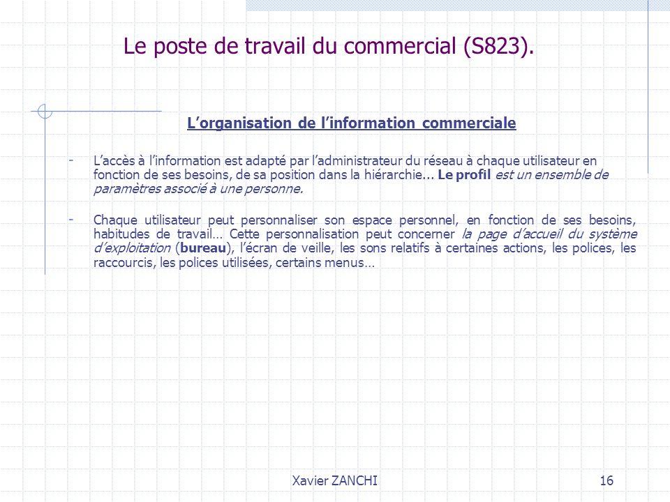Le poste de travail du commercial (S823).