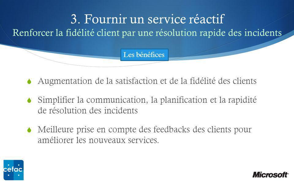 3. Fournir un service réactif Renforcer la fidélité client par une résolution rapide des incidents