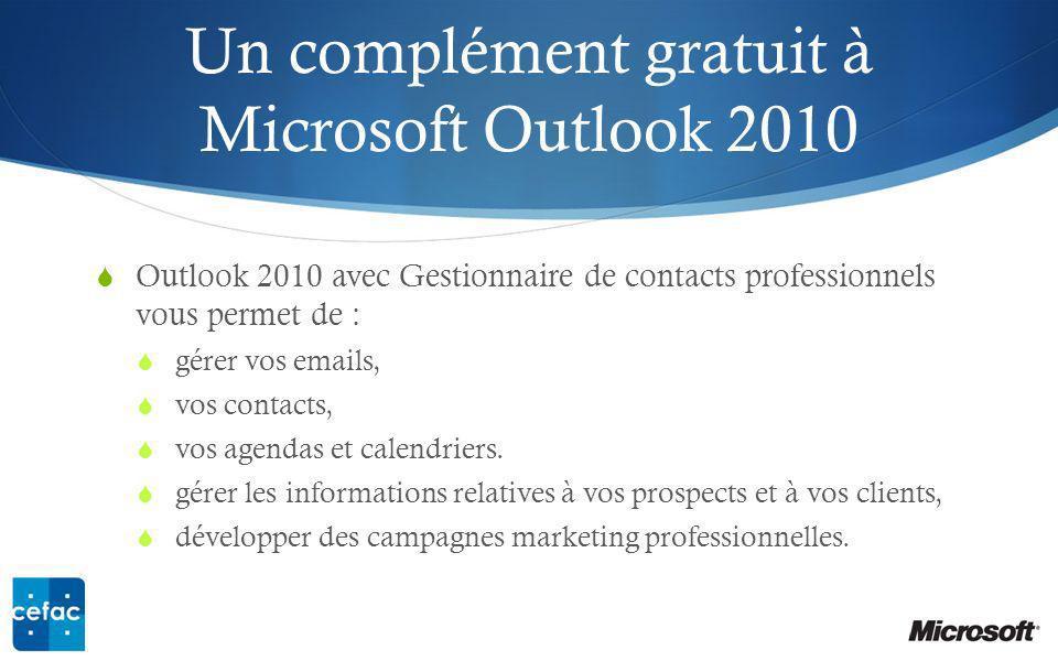 Un complément gratuit à Microsoft Outlook 2010