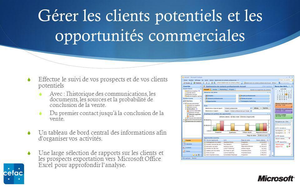 Gérer les clients potentiels et les opportunités commerciales