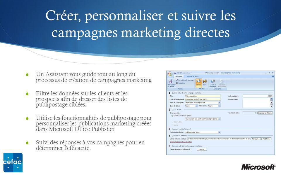 Créer, personnaliser et suivre les campagnes marketing directes