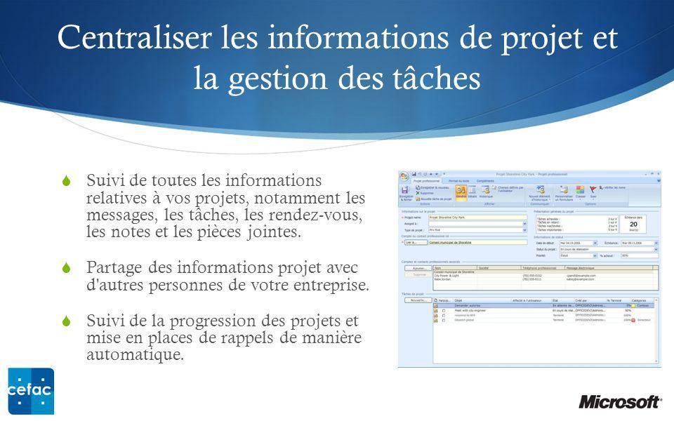 Centraliser les informations de projet et la gestion des tâches