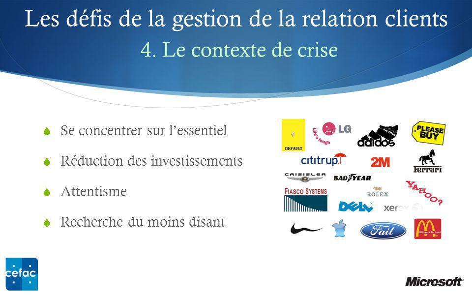 Les défis de la gestion de la relation clients 4. Le contexte de crise