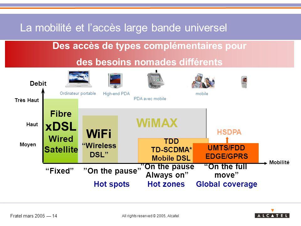La mobilité et l'accès large bande universel