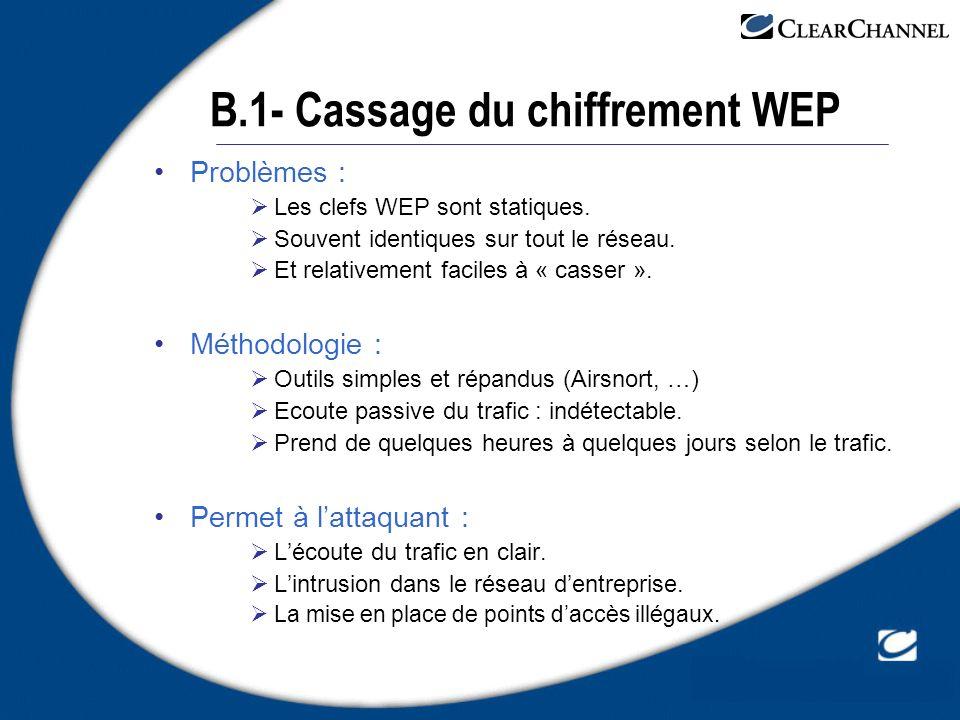 B.1- Cassage du chiffrement WEP