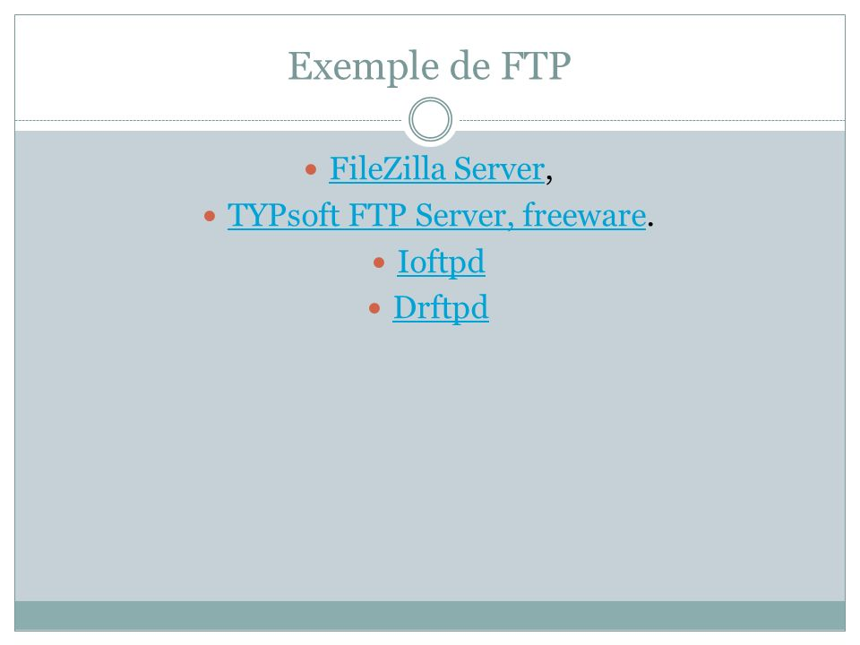 TYPsoft FTP Server, freeware.