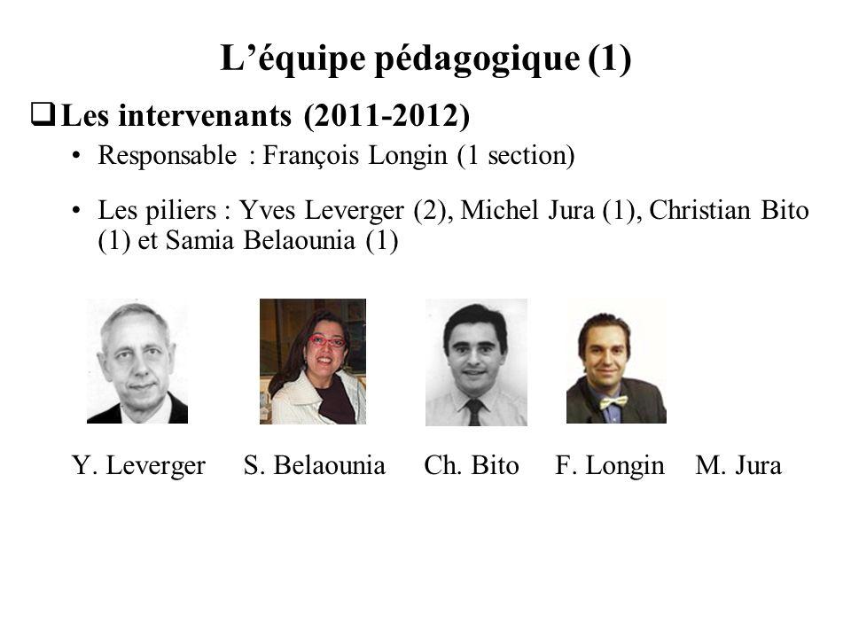 L'équipe pédagogique (1)