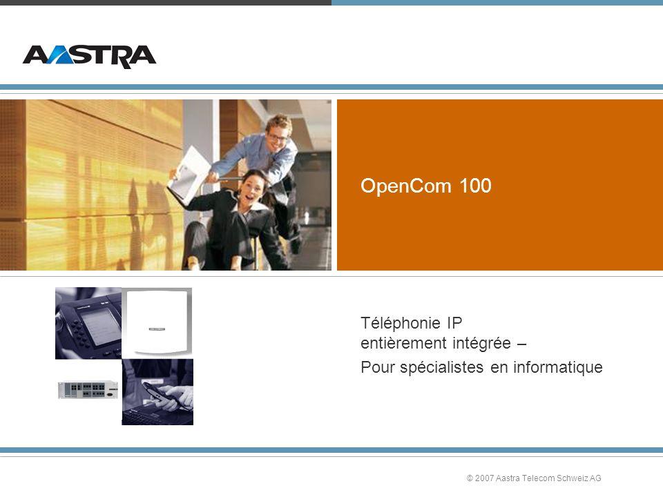 Téléphonie IP entièrement intégrée – Pour spécialistes en informatique