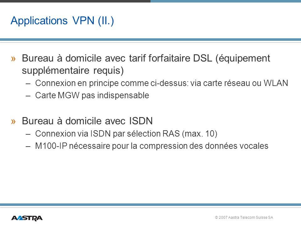 Applications VPN (II.) Bureau à domicile avec tarif forfaitaire DSL (équipement supplémentaire requis)