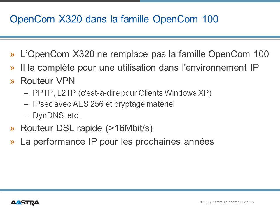 OpenCom X320 dans la famille OpenCom 100