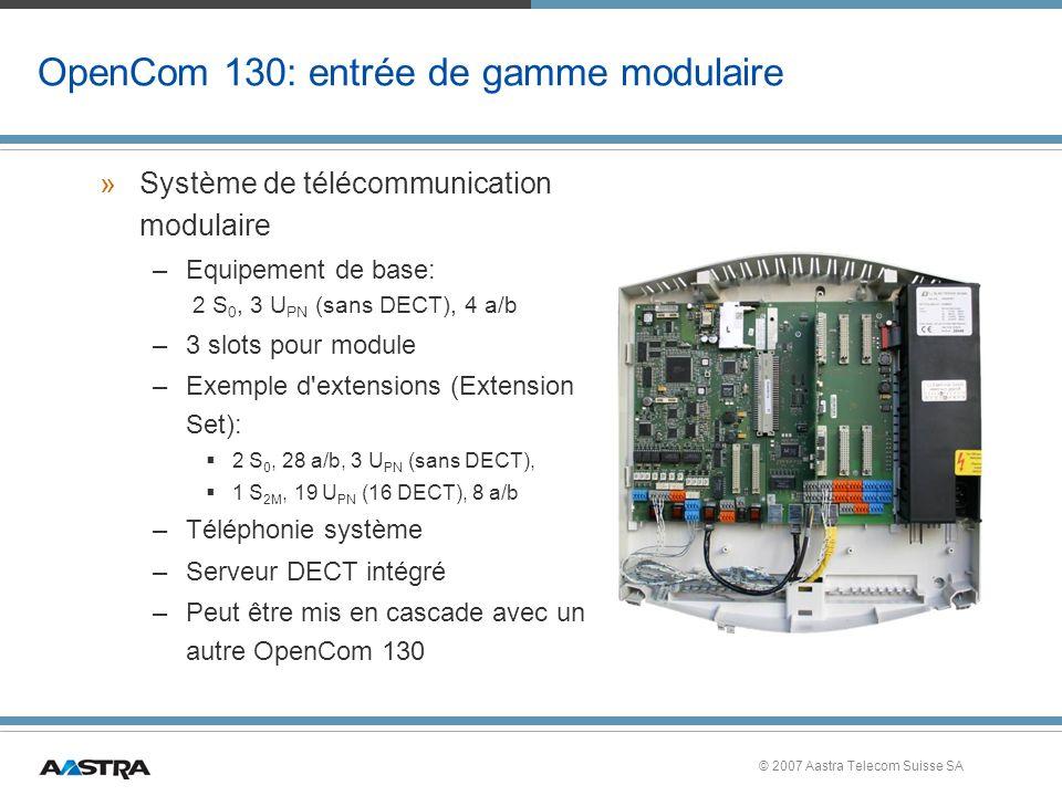 OpenCom 130: entrée de gamme modulaire