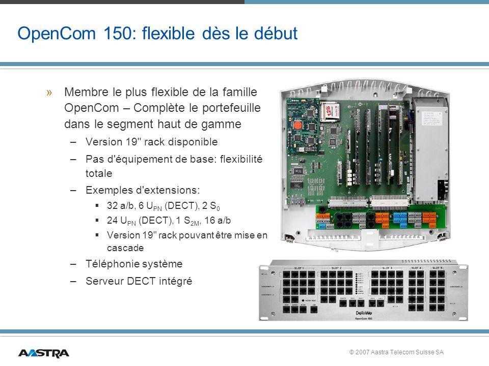 OpenCom 150: flexible dès le début