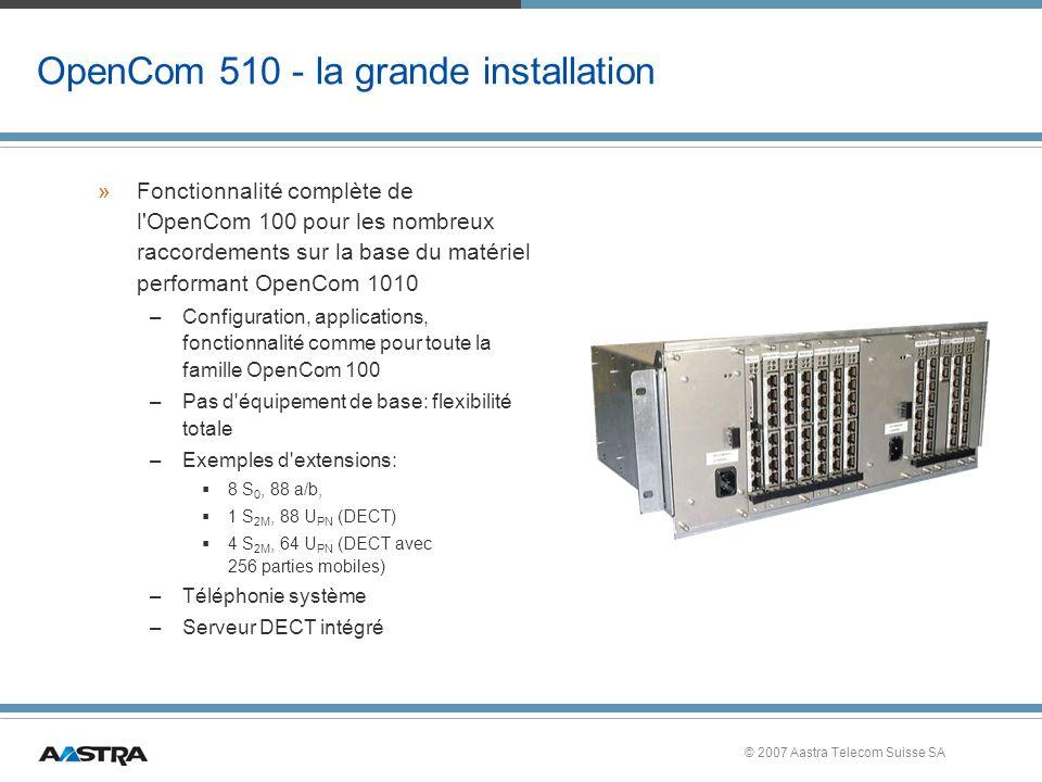 OpenCom 510 - la grande installation