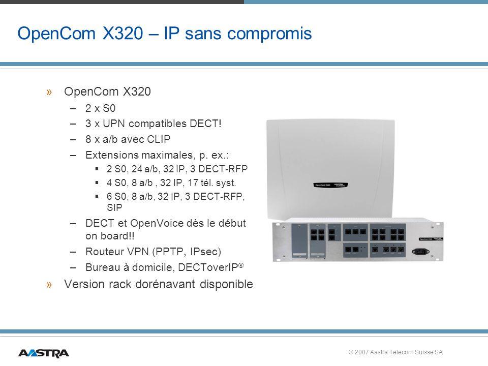 OpenCom X320 – IP sans compromis